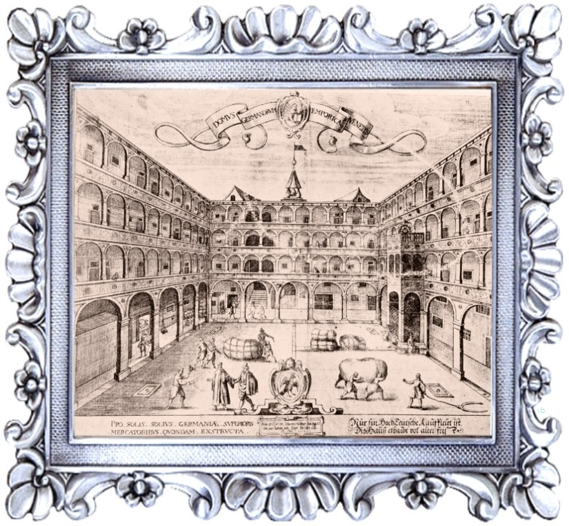 fondaco dei tedeschi in gioielleria meneghetti venezia - Domus Germanorum Emporica Venetiis Raphael Custos.jpg