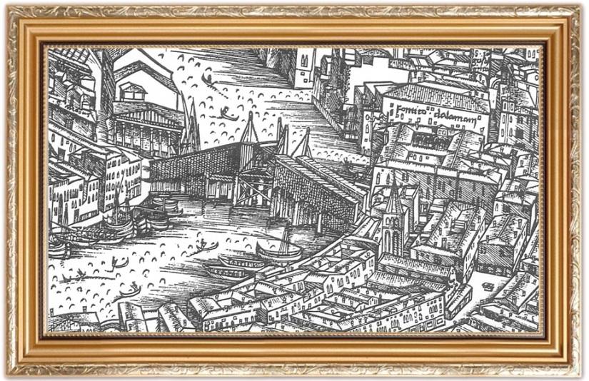 rialto Jacopo de Barbari fondaco dei tedeschi in gioielleria meneghetti venezia.jpg