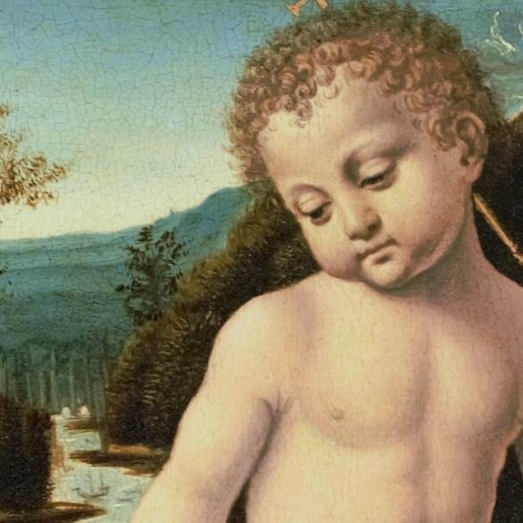 02 OK Bernardino de Conti - I 3 santi fanciulli LEONARDO DA VINCI a Venezia Mostra Palazzo Lolin San Marco 2893 Accademia Canal Grande - Fondazione Levi
