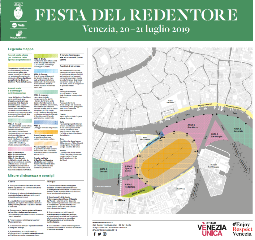 sicurezza mappa festa redentore 2019 oreficeria meneghetti orafo di venezia gioielleria