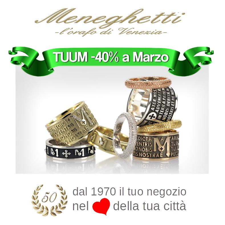 01 Menegheti promo TUUM - 1970 2020 anniversario 50 anni - Orafo di Venezia